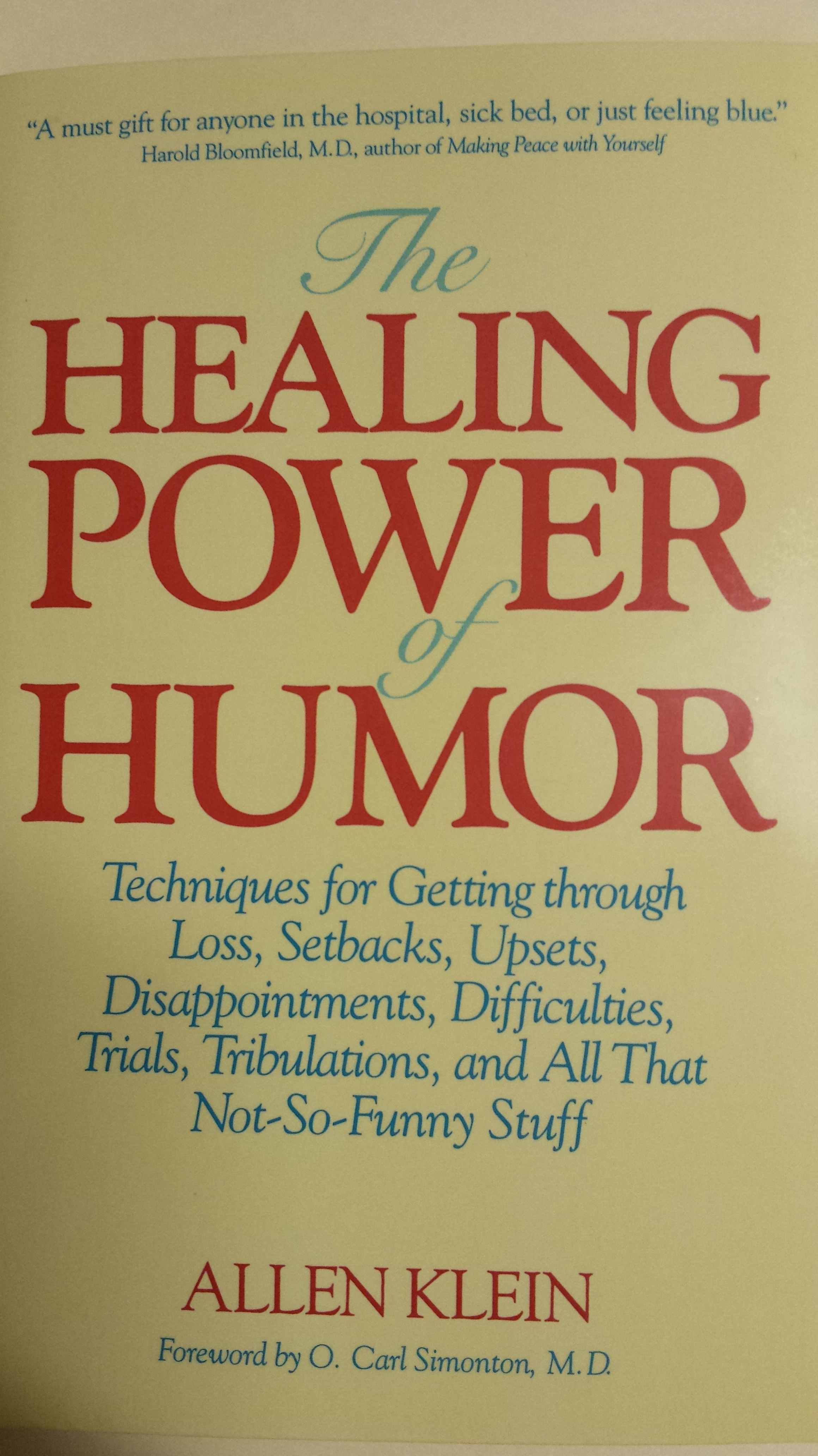 The Healing Power of Humor, by Allen Klein | Momentum, Science & the ...