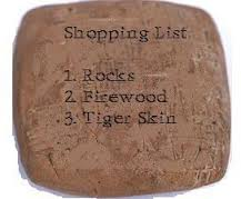 shopping list on rock by Richard Parsons