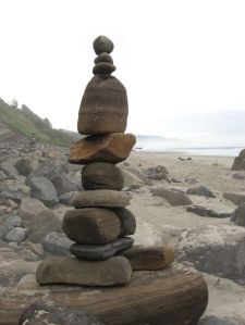 stacked rocks for momentum
